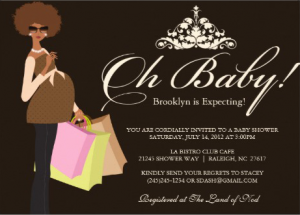 African American Baby Shower Invitations Baby Invites