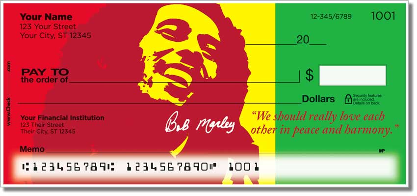 Bob Marley Personal Checks